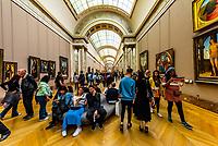 Interior view, Louvre Museum, Paris, France.