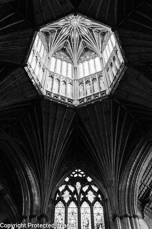 Magnificent wooden Octogon at Ely Cathedral in England.