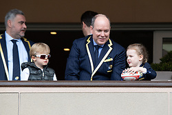 TABLOID OUT WEB & PRINT - Prince Albert II of Monaco with Crown Prince Jacques of Monaco and Princess Gabriella of Monaco attend the Sainte Devote Rugby Tournament at Louis II Stadium in Monaco, on May 11, 2019. Photo by David Niviere/ABACAPRESS.COM
