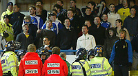 Photo: Andrew Unwin.<br />Leeds United v Cardiff City. Coca Cola Championship.<br />10/12/2005.<br />Security was tight around the Cardiff fans in the away-supporters end.