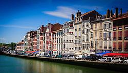 Looking across the River Nive in Bayonne, France<br /> <br /> (c) Andrew Wilson | Edinburgh Elite media
