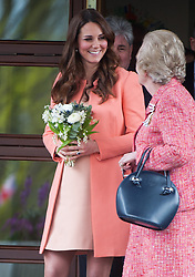 Catherine, Duchess of Cambridge visits Naomi House Children's Hospice near Winchester on April 29, 2013