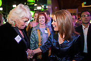 """11 DECEMBER 2011 - SCOTTSDALE, AZ:    Congresswoman and Republican Presidential hopeful MICHELE BACHMANN (R-MN) works the crowd at a fundraiser sponsored by Politics on the Rocks at the Mint in Scottsdale, Sunday. The Mint is a popular bar and restaurant built in a former bank in Scottsdale, AZ. Politics on the Rocks was started by Charles A. Jensen in Scottsdale, Arizona. The purpose of """"Politics on the Rocks"""" is to bring Republican & Conservative Professionals together in a monthly happy hour where they can network, socialize, and hear directly from prominent politicians and successful business leaders.      PHOTO BY JACK KURTZ"""