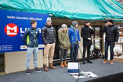 Slovenian biathlon team during Presentation of new house of Jakov Fak, made by Lumar, on February 26, 2018 in Lesce, Lesce, Slovenia. Photo by Ziga Zupan / Sportida