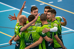 Team Orion celebrates during the supercup final between Amysoft Lycurgus - Active Living Orion on October 04, 2020 in Van der Knaaphal, Ede