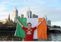 28 June 2013; British & Irish Lions supporter Adrienne Moore, from Lusk, Co. Dublin, on The Yarra Promenade ahead of the Lions 2nd test match against Australia on Saturday. British & Irish Lions Tour 2013, Fans in Melboure, Australia. Picture credit: Stephen McCarthy / SPORTSFILE