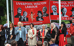 Jeremy Corbyn speaking at a European election rally to Labour supporters in Bootle, urging them to unite to counter rise of the 'far right'.