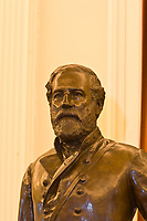 A statue of Robert E. Lee, Old House Chamber, Virginia State Capitol, Richmond, Virginia USA