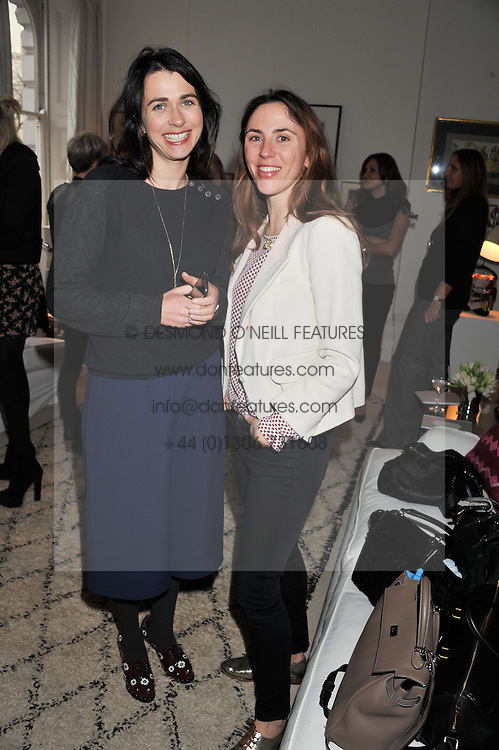 Left to right, EMILY SHEFFIELD and MARIA DE MADARIAGA at a lunch hosted by Roger Vivier held at Bella Pollen's home, 5 Stanley Crescent , London on 29th January 2013.