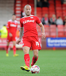 Crawley's Keith Keane - photo mandatory by-line David Purday JMP- Tel: Mobile 07966 386802 - 11/10/14 - Crawley Town v Peterbourgh United - SPORT - FOOTBALL - Sky Bet Leauge 1  - London - Checkatrade.com Stadium