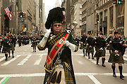 The New York Department of Corrctions Emerald Society pipe band.