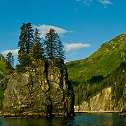 North America, United States, US, Northwest, Pacific Northwest, West, Alaska, Kenai, Kenai Fjords, Kenai Fjords National Park, Kenai Fjords NP. Fantastic Spire Cove in Kenai Fjords National Park, Alaska.