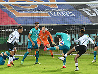 Football - 2020 / 2021 Sky Bet Championship - Swansea City vs AFC Bournemouth - Liberty Stadium<br /> <br /> <br /> Jamal Lowe shoots at goal in a stadium without fans because of the pandemic crisis<br /> <br /> COLORSPORT/WINSTON BYNORTH