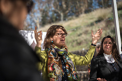 7 December 2019, Madrid, Spain: Arianne van Andel from the Interreligious Aliance for the Climate, Chile leads a word of prayer, as people of faith gather in a 'Prayer for the Rainforest' as part of the Cumbre Social por el Clima, on the fringes of COP25 in Madrid, where faith-based organizations continue to urge decision-makers to take action for climate justice.
