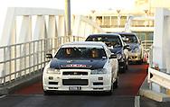 Jeff Beable & Nerida Beable.Nissan Skyline GT-R V Spec N1 .Arrive off the Spirit of Tasmania into Devonport.Pre Event.Targa Tasmania 2009.27th of April 2009.(C) Joel Strickland Photographics.