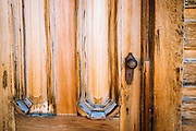 Door detail, Bodie State Historic Park, California USA