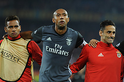 September 27, 2017 - Na - Basel, 09/27/2017 - FC Basel host SL Benfica in the St. Jakob Park stadium tonight for the second round of Group A of the 2017/18 Champions League. Filipe Augusto, Luisão, Jonas  (Credit Image: © Atlantico Press via ZUMA Wire)