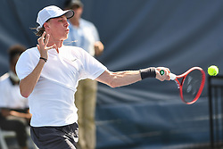 August 1, 2018 - Washington, D.C, U.S - DENIS SHAPOVALOV hits a forehand during his 2nd round match at the Citi Open at the Rock Creek Park Tennis Center in Washington, D.C. (Credit Image: © Kyle Gustafson via ZUMA Wire)