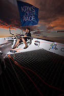 Pictures of the Musandam - Oman Sail MOD70 team in action during the Krys Ocean Race prologue from Newport Rhode Island - NYC