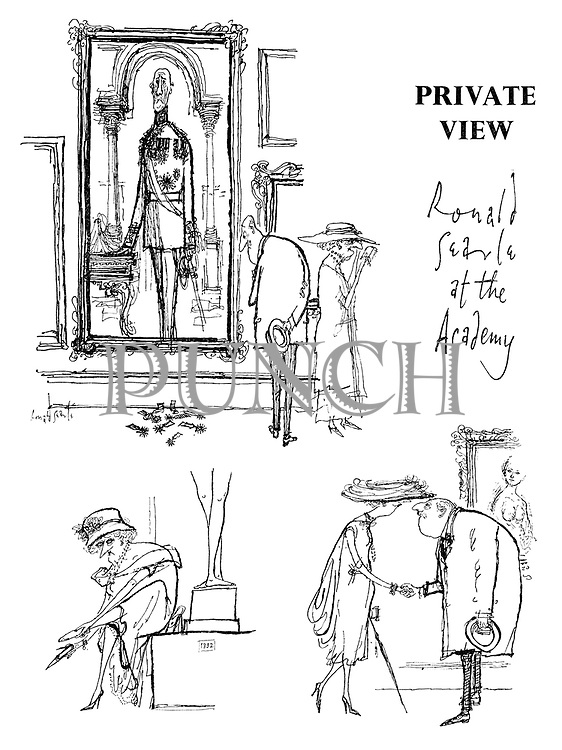 Private View. Ronald Searle at the Royal Academy