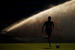 June 28, 2018 - Gelendzhik, RUSSIA - 180628 Marcus RohdŽn of the Swedish national football team run in front of water sprinklers at a practice session during the FIFA World Cup on June 28, 2018 in Gelendzhik..Photo: Joel Marklund / BILDBYRN / kod JM / 87738 (Credit Image: © Joel Marklund/Bildbyran via ZUMA Press)