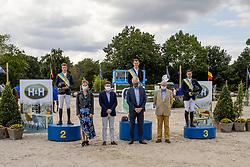 Podium BK Jumping, Verlooy Jos, >Clemens Pieter, Vaznderhasselt Yves<br /> Belgisch Kampioenschap Jumping  <br /> Lanaken 2020<br /> © Hippo Foto - Dirk Caremans<br /> <br />  05/09/2020