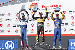 March 11, 2018 - St. Petersburg, Florida, United States of America - March 11, 2018 - St. Petersburg, Florida, USA: SŽbastien Bourdais (18) celebrates after winning the Firestone Grand Prix of St. Petersburg at Streets of St. Petersburg in St. Petersburg, Florida. (Credit Image: © Justin R. Noe Asp Inc/ASP via ZUMA Wire)