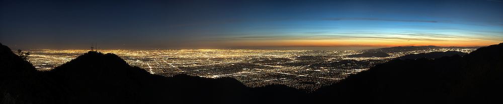Southern California after sunset from Mt. Wilson