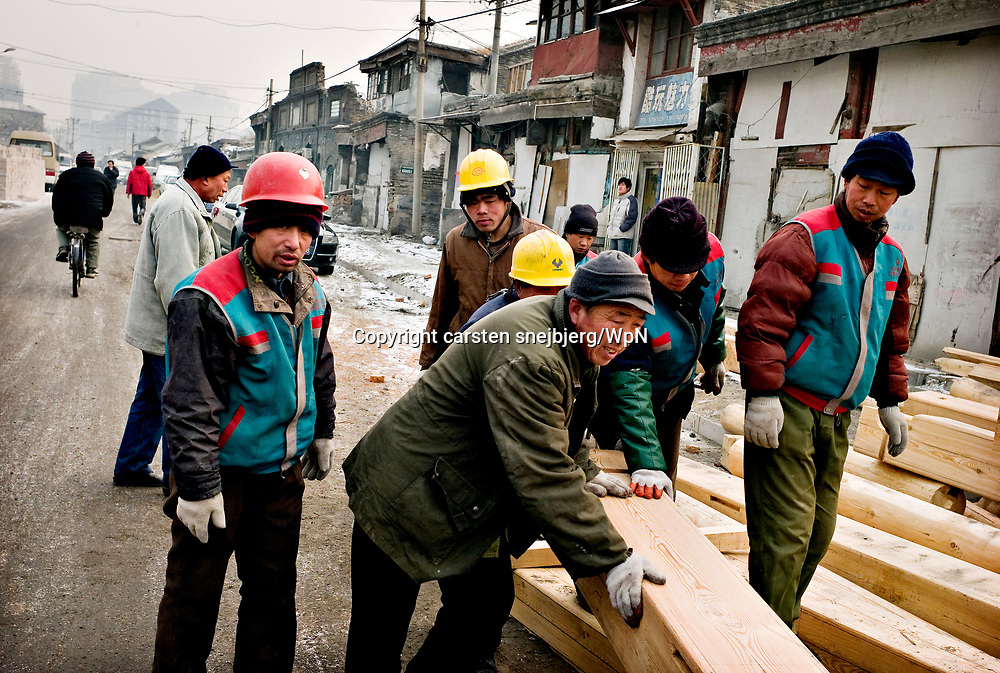 Constructions worker in Beijing, China, on friday 18. jan, 2008