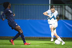 Aissatou Tounkara of France and Mateja Zver of Slovenia during football match between Slovenia and France in 2nd round of Women's world cup 2023 Qualifying round on 21 of September, 2021 in Mestni stadion Fazanerija, Murska Sobota, Slovenia. Photo by Blaž Weindorfer / Sportida