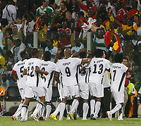 Photo: Steve Bond/Richard Lane Photography.<br />Ghana v Guinea. Africa Cup of Nations. 20/01/2008. Sulley Muntari celebrates his late winner