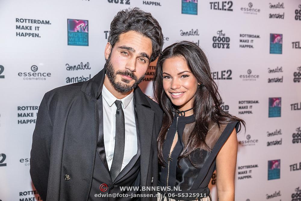 NLD/Rotterdam/20161102 - MTV Music Week Official Opening Party 2016, Kay Nambiar en Monica Geuze