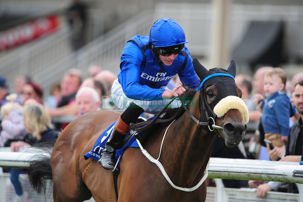 Toscanini ridden by James Doyle before winning the Qatar Racing and Equestrian Club Phoenix Sprint Stakes at Curragh Racecourse, Co. Kildare, Ireland.