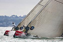 Bowman calling the line. Artemis versus Team Origin. Race day 7, Round Robin 1. Auckland, New Zealand, March 16th 2010. Louis Vuitton Trophy  Auckland (8-21 March 2010) © Sander van der Borch / Artemis