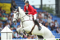 Devos Pieter, (BEL), Dylano<br /> Team Competition round 1 and Individual Competition round 1<br /> FEI European Championships - Aachen 2015<br /> © Hippo Foto - Stefan Lafrentz<br /> 19/08/15