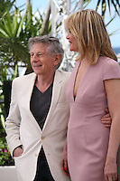 Director Roman Polanski, Actress Emmanuelle Seigner at Venus in Fur - La Venus A La Fourrure Photocall Cannes Film Festival On Saturday 26th May May 2013