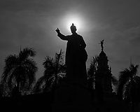 Statue and Sun. Afternoon Walkabout in Old Havana. Image taken with a Fuji X-T1 camera and various lenses.