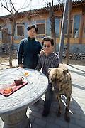 Sally Liu with her husband Yan Yu in Songzhuang, outside Beijing.