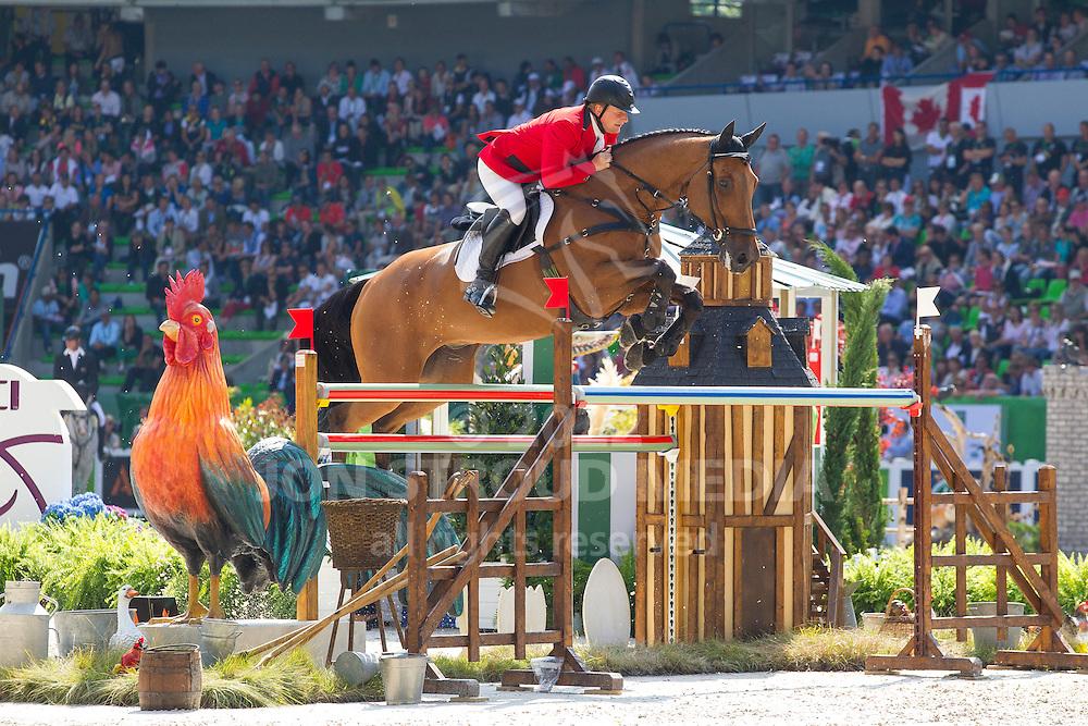 Vladimir Beletsky, (RUS), Rocketman 2 - First Round Team Competition Jumping Speed - Alltech FEI World Equestrian Games™ 2014 - Normandy, France.<br /> © Hippo Foto Team - Leanjo De Koster<br /> 03-09-14