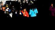 Abril y Mayo 2011/Bolivia<br /> Carmen Rosa La Luchadora al centro de la fotografía de rojo camina alrededor de la gente por las calles del centro de la Paz Bolivia<br /> <br /> Foto:Juan Gonzalez