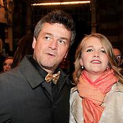 NLD/Amsterdam/20130315 - Boekenbal 2013 Stadsschouwburg , Kasper van kooten en partner Lisa Mioch