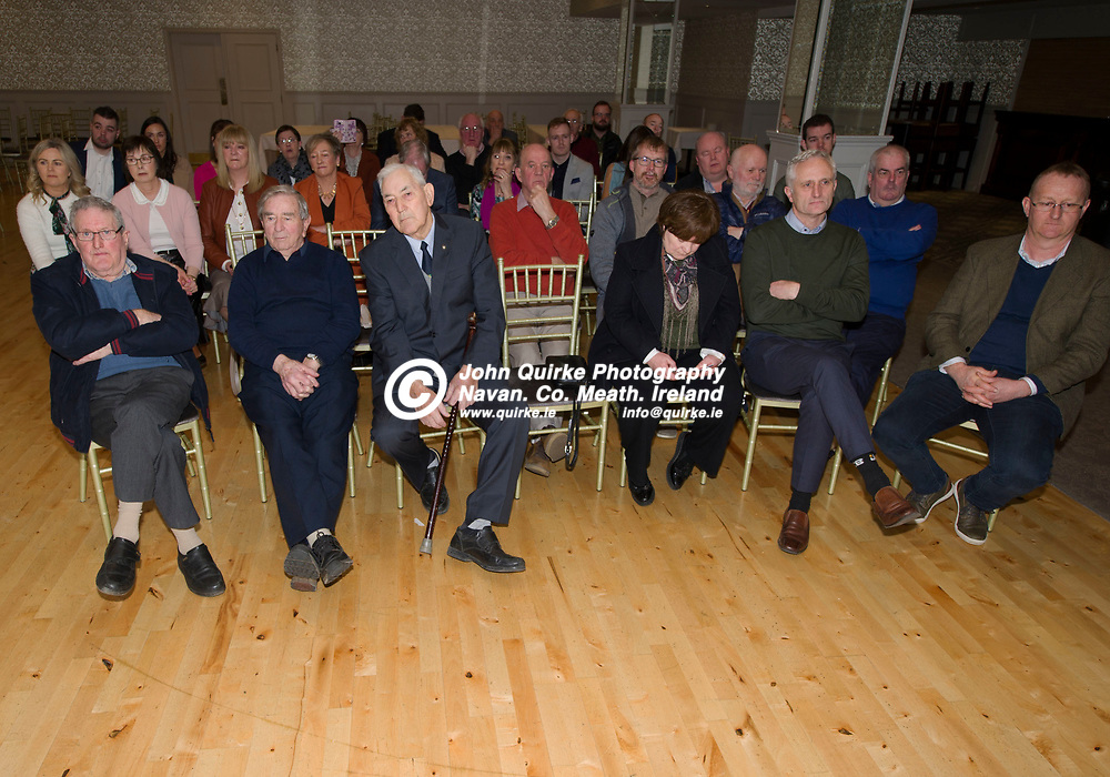25-01-19. Leinster GAA Annual Convention 2018 at the Knightsbrook Hotel, Trim.<br /> Family members and friends who joined up with Pat Teehan to celebrate his official appointment as Cathoirleach, Comhairle Laighean C.LG.<br /> Photo: John Quirke / www.quirke.ie<br /> ©John Quirke Photography, Unit 17, Blackcastle Shopping Cte. Navan. Co. Meath. 046-9079044 / 087-2579454.