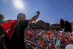 March 23, 2019 - Prato, Italy - Antifascist gathering against the rally of Far-right movement Forza Nuova that took place in Prato, Italy, on 23 March 2019 for the century of Fasci di combattimento. (Credit Image: © Enrico Mattia Del Punta/NurPhoto via ZUMA Press)