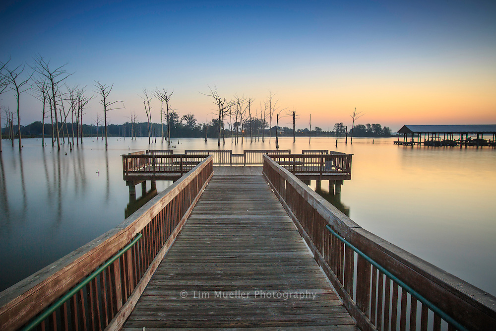 The North Marina Complex at Poverty Point Reservoir State Park offers visitors great fishing and watersports opportunities.