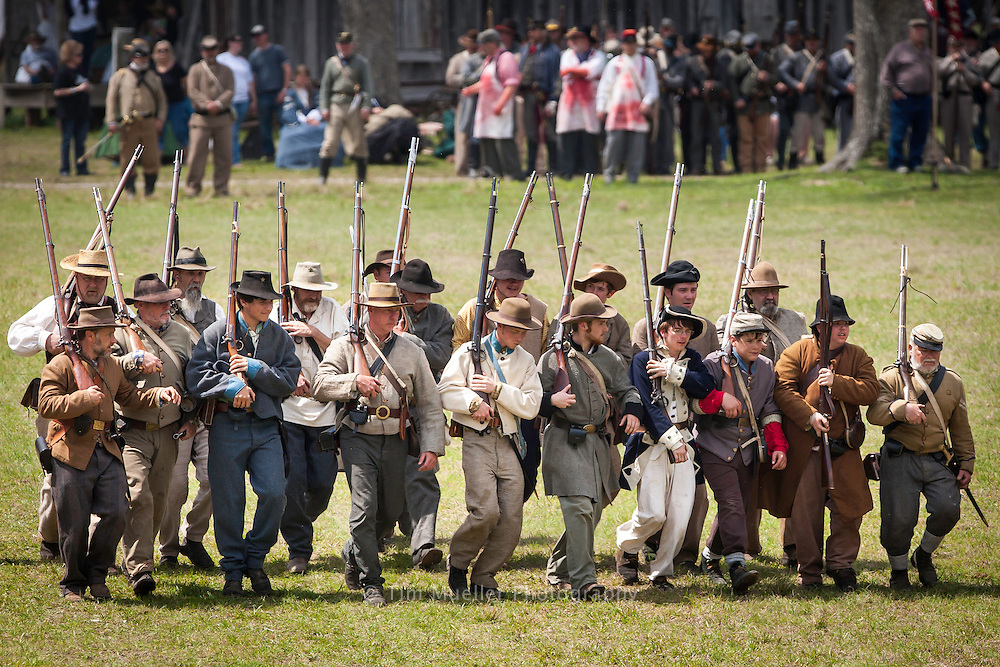Battle of Pleasant Hill re-enactment takes place every year to commemorate the biggest Civil War battle west of the Mississippi River.