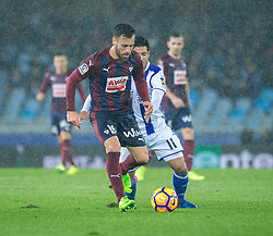 February 28, 2017 - San Sebastian, Spain - Match day of La Liga Santander 2016 - 2017 season between Real Sociedad and S.D Eibar, played Anoeta Stadium on Thuesday, March 28th, 2017. San Sebastian, Spain. 19 A. Luna. (Credit Image: © Ion Alcoba/VW Pics via ZUMA Wire/ZUMAPRESS.com)