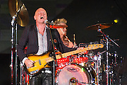 Sting performs with No Doubt at the 2014 Global Citizen Festival at Central Park in New York City on 27 September 2014.