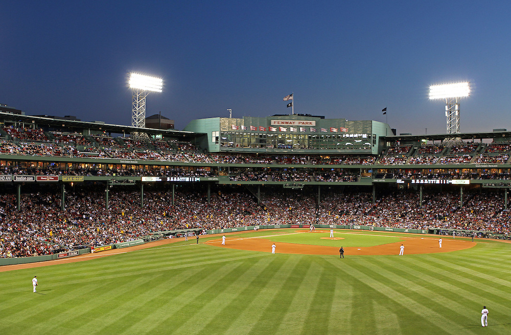 Boston Red Sox photography showing Red Sox Nation at Boston Fenway Park playing against the Texan Rangers. Red Sox pounded the Texans 17 to 5 and it was the perfect birthday and a very special night out with my family! Boston Fenway Park is the jewel of ballparks and the oldest ballpark in America, now in its 101th year. The romance began in 1912 when a century of jubilation and heartbreak began.<br /> <br /> Photos of Boston Fenway Park are available as museum quality photography prints, canvas prints, acrylic prints or metal prints. Prints may be framed and matted to the individual liking and decorating needs: <br /> <br /> http://juergen-roth.pixels.com/featured/boston-fenway-park-and-red-sox-nation-juergen-roth.html<br /> <br /> Good light and happy photo making!<br /> <br /> My best,<br /> <br /> Juergen<br /> Prints: http://www.rothgalleries.com<br /> Photo Blog: http://whereintheworldisjuergen.blogspot.com<br /> Twitter: @NatureFineArt<br /> Facebook: https://www.facebook.com/naturefineart