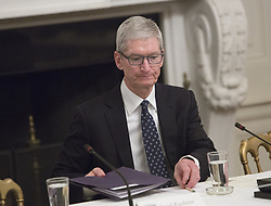 June 19, 2017 - Washington, District of Columbia, United States of America - Apple CEO Tim Cook participates in an American Technology Council meeting at The White House in Washington, DC, June 19, 2017. .Credit: Chris Kleponis / CNP (Credit Image: © Chris Kleponis/CNP via ZUMA Wire)
