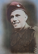 """Mcc0061181 . Daily Telegraph<br /> <br /> Telegraph Magazine<br /> <br /> D Day Veterans<br /> <br /> Raymond """"Tich"""" Rayner, who served as a platoon sergeant with glider-borne D Company the Oxfordshire and Buckinghamshire Light Infantry Battalion, 6th Airborne Division on D-Day . <br /> <br /> 23 March 2015"""